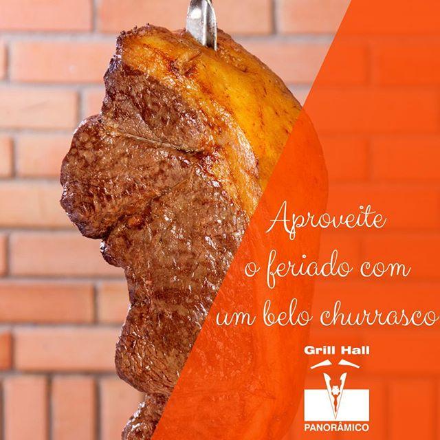 <p>Para que cozinhar se você pode vim almoçar ou jantar no #GrillHallPanoramico? Te esperamos com um Rodízio de Carnes, Buffet de Pratos Quentes e Sobremesa. ???<br /> Aproveite o feriado e venha saborear estas delicias. ?? #EuNoGrillHallPanorâmico #eunogrillhall #ChurrascoTodoDia #feriado</p>