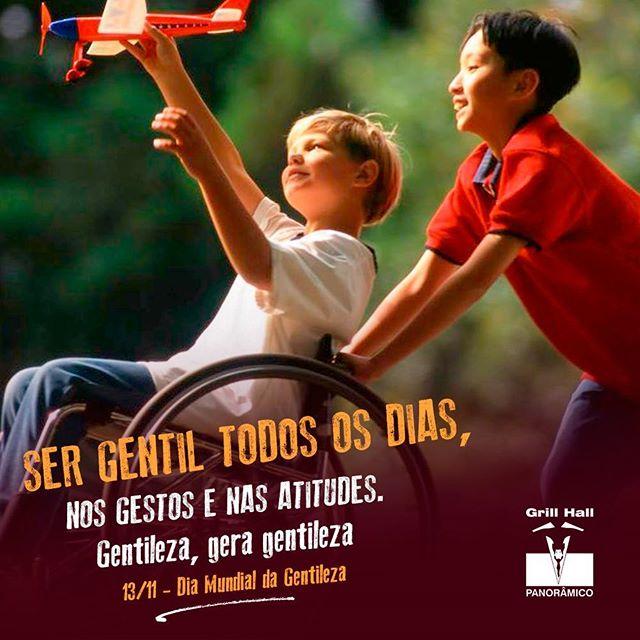 <p>Gentileza gera gentileza. Seja gentil, sempre! ?<br /> 13/11 – Dia Mundial da Gentileza.</p> <p>#EuNoGrillHallPanorâmico #eunogrillhall #ChurrascoTodoDia #diadagentileza</p>