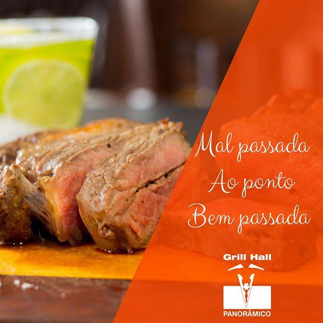 <p>Como você prefere a carne? ? Mal passada<br /> ? Ao ponto<br /> ? Bem passada</p> <p>#EuNoGrillHallPanorâmico #eunogrillhall #ChurrascoTodoDia #carnemalpassada #carneaoponto #carnebempassada</p>