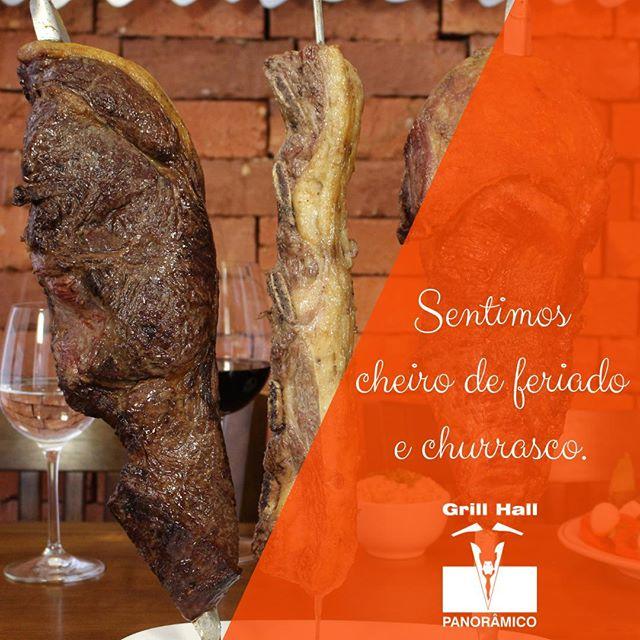 <p>Vamos churrasquiar neste feriado? Estamos esperando por vocês!<br /> #EuNoGrillHallPanorâmico #eunogrillhall #ChurrascoTodoDia #feriado</p>