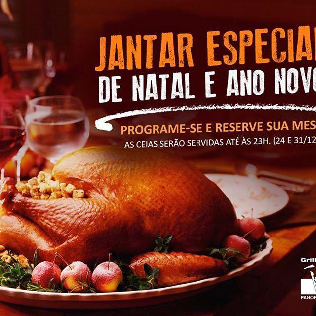 <p>Um jantar especial de Natal e Fim de Ano te espera no #GrillHallPanoramico. Programe-se e reserve sua mesa para a ceia, mais informações entre em contato com nossa equipe. ?3313-5466</p> <p>#EuNoGrillHallPanorâmico #eunogrillhall #ChurrascoTodoDia #jantarespecial #natal #anonovo</p>