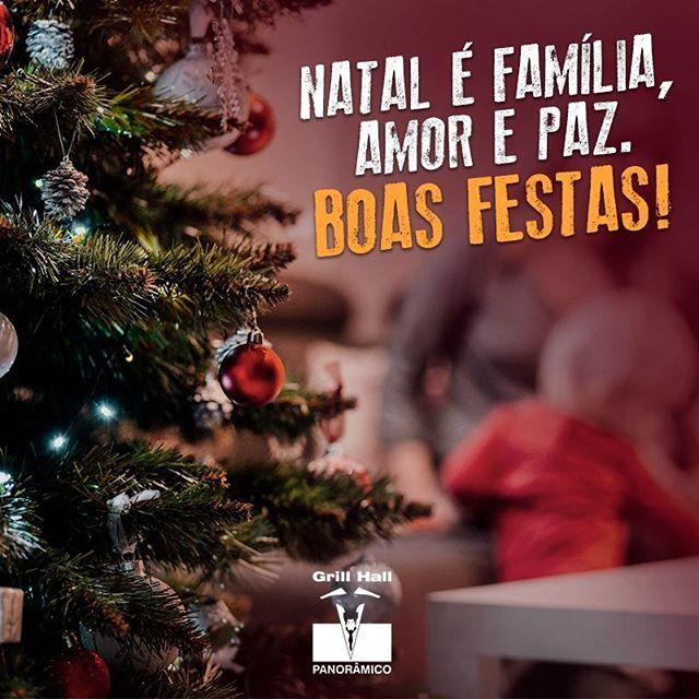 <p>Desejamos um ótimo Natal ao lado de quem você ama. ??<br /> Feliz Natal!</p> <p>#EuNoGrillHallPanorâmico #eunogrillhall #ChurrascoTodoDia #feliznatal #boasfestas #familia #amor #paz</p>