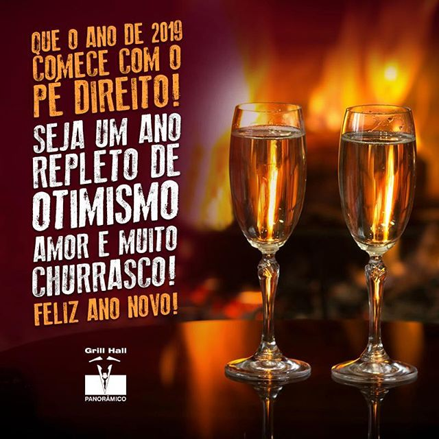 <p>Que 2019 seja maravilhoso! ?? #EuNoGrillHallPanorâmico #eunogrillhall #ChurrascoTodoDia #fimdeano #otimismo #amor #muitochurrasco</p>