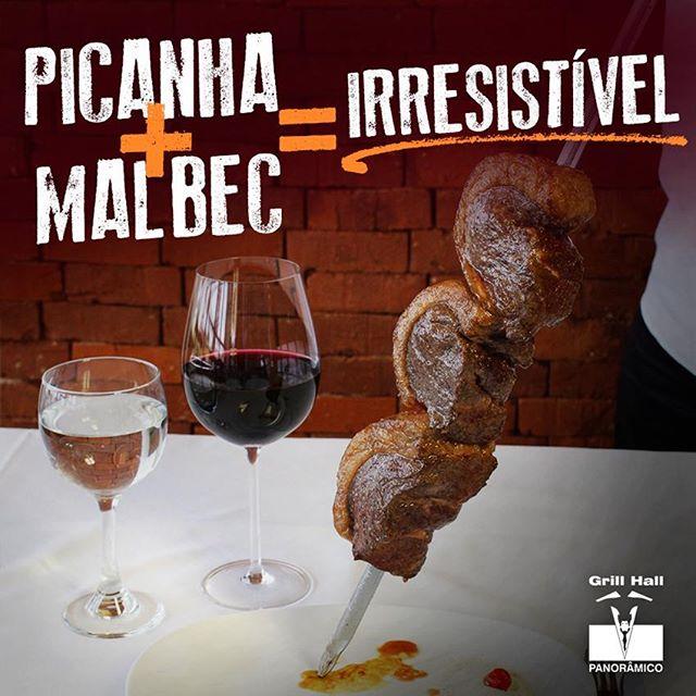 <p>Apaixonados por churrasco e vinhos não podem deixar de fazer essa incrível harmonização: vinho Malbec e Picanha. A Adega de Vinhos do #GrillHallPanoramico possui o que há de melhor em vinhos nacionais e importados.??? #EuNoGrillHallPanorâmico #eunogrillhall #ChurrascoTodoDia #vinhomalbec #picanha</p>