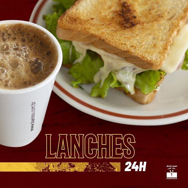 <p>Já conhece a nossa conveniência? Servimos diversos lanches e cafés. Aqui a hora do lanche é toda a hora, ideal para fazer um lanche antes de ir pra aula, seja pela manhã ou à noite.</p> <p>#EuNoGrillHallPanorâmico #eunogrillhall #ChurrascoTodoDia #conveniencia24h #lanches #cafe #pastel #torrada #sanduiche</p>