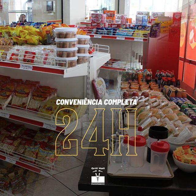 <p>A nossa Conveniência está preparada para atender o público da forma mais completa. Possuímos uma variedade de produtos e lanches, o melhor de tudo? Você encontra tudo isso 24 horas por dia.</p> <p>#EuNoGrillHallPanorâmico #eunogrillhall #ChurrascoTodoDia #conveniencia24h</p>