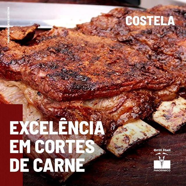 <p>A costela é um corte que possui bastante gordura, o que a torna uma carne muito saborosa. Por ser localizada numa parte que a carne é mais dura, seu tempo de preparo é maior, afinal, carnes mais duras levam mais tempo para ficarem prontas. Aqui no #GrillHallPanoramico, preparamos a nossa costela da forma mais tradicional: assada por 12h.?<br /> ?<br /> ?<br /> *Imagem meramente ilustrativa.?<br /> ?<br /> #EuNoGrillHallPanorâmico #eunogrillhall #ChurrascoTodoDia #excelenciaemcortesdecarne #cortesdecarne #costela?</p>