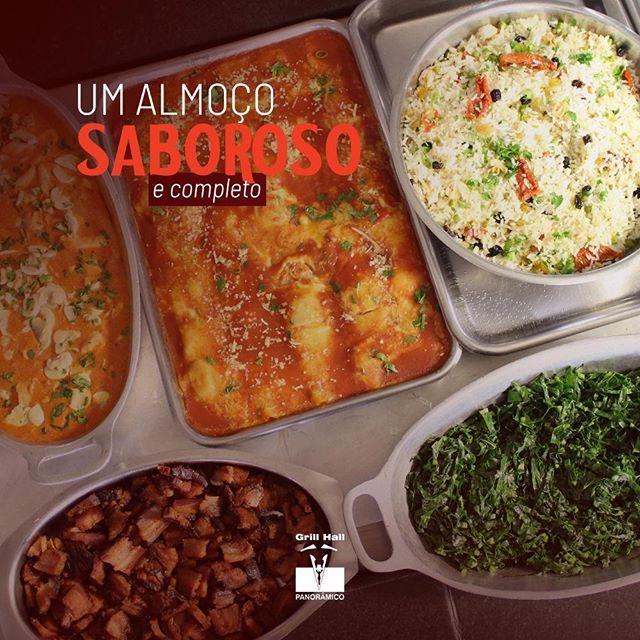 <p>O Buffet do #GrillHallPanoramico oferece uma variedade em seu buffet de saladas, pratos quentes e sobremesas, ideal para deixar o seu almoço completo e saboroso. Você pode optar pelo Buffet Livre com Grill, Buffet Livre ou Buffet por Quilo. Esperamos por você!?<br /> ?<br /> #EuNoGrillHallPanorâmico #eunogrillhall #ChurrascoTodoDia #almoco #buffet #buffetpratosquentes #buffetdesaladas #buffetdesobremesas?<br /> ?</p>