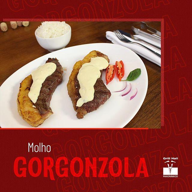 <p>O queijo gorgonzola é de origem italiana e o seu sabor marcante conquistou o mundo. Sua textura cremosa foi perfeita para a criação de um molho de dar água na boca. É um excelente companheiro para o nosso tradicional Rodízio de Carnes. ???<br /> ?<br /> #EuNoGrillHallPanorâmico #eunogrillhall #ChurrascoTodoDia #molhogorgonzola ?</p>