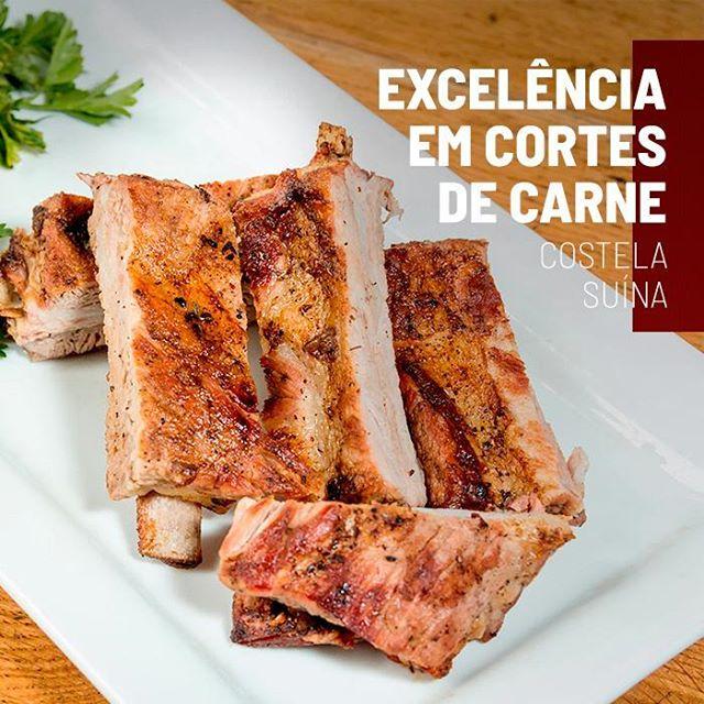 <p>O corte suíno mais querido pelos apreciadores de carne é a Costela. ?<br /> A costela suína é macia e suculenta por ser assada de maneira mais lenta, em cozimento úmido e por ter um pouco de gordura. Esse corte é mais um que faz parte de nosso tradicional Rodízio de Carnes, que te espera todos os dias!?<br /> ?<br /> #EuNoGrillHallPanorâmico #eunogrillhall #ChurrascoTodoDia #excelenciaemcortesdecarne #cortesdecarne #costelasuina?</p>