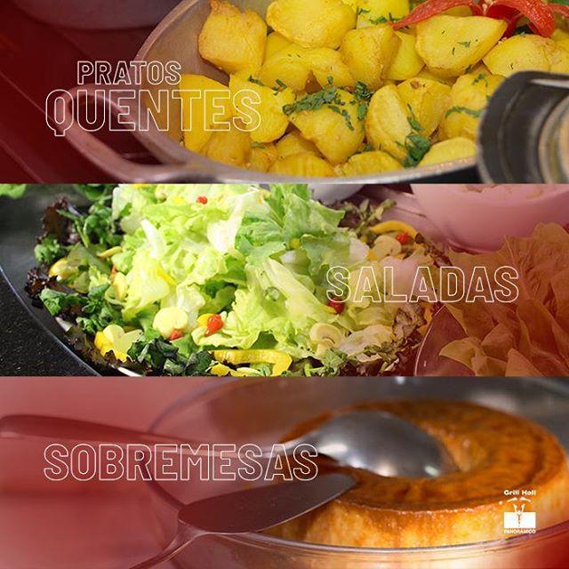 <p>Variedade e qualidade você encontra em nosso Buffet de Pratos Quentes, Saladas e Sobremesas. Seu almoço ou jantar mais completo e saboroso. ??<br /> ?<br /> ? Opções de Buffet Livre, Buffet Livre com Grill ou Buffet por quilo.?<br /> ?<br /> #EuNoGrillHallPanorâmico #eunogrillhall #ChurrascoTodoDia #buffet #buffetpratosquentes #buffetsaladas #buffetsobremesas #pratoquentes #saladas #sobremesas</p>