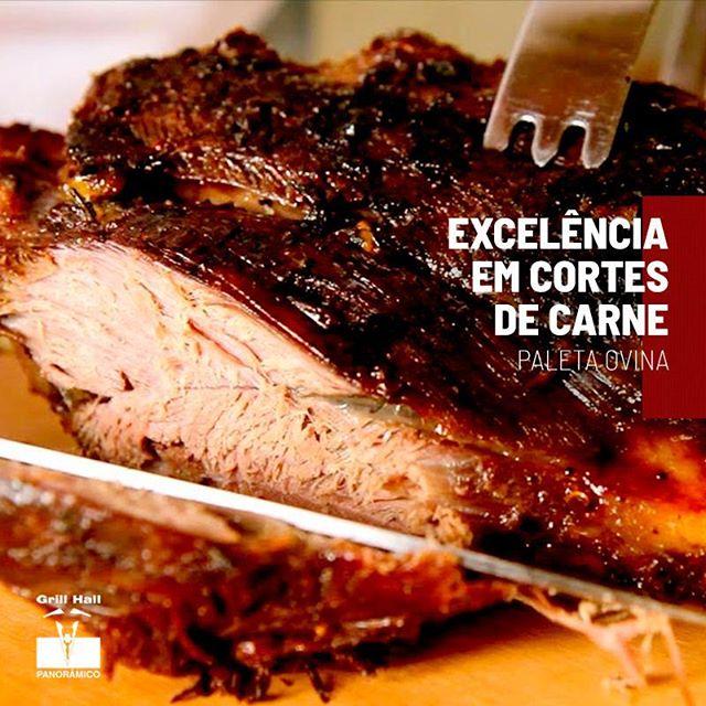 <p>A Paleta Ovina é um corte que deve ser preparado lentamente e de preferência com algum molho, para realçar seu sabor, suculência e maciez. O tradicional Rodízio de Carnes do #GrillHall oferece esse e outros cortes de excelência para seu almoço ou jantar.?<br /> ?<br /> #EuNoGrillHallPanorâmico #eunogrillhall #ChurrascoTodoDia #churrasco #churrascaria #excelenciaemcortedecarne #cortesdecarne #paletaovina</p>