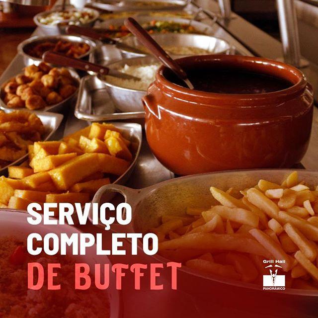 <p>O #GrillHallPanoramico tem serviço completo de Buffet de Pratos Quentes, Saladas e Sobremesas, perfeitos para seu almoço ou jantar.?<br /> ?<br /> ?Buffet Livre?<br /> ?Buffet com Grill?<br /> ?Buffet por quilo?<br /> ?<br /> #EuNoGrillHallPanorâmico #eunogrillhall #ChurrascoTodoDia #buffet #buffetlivre #buffetcomgrill #buffetporquilo</p>
