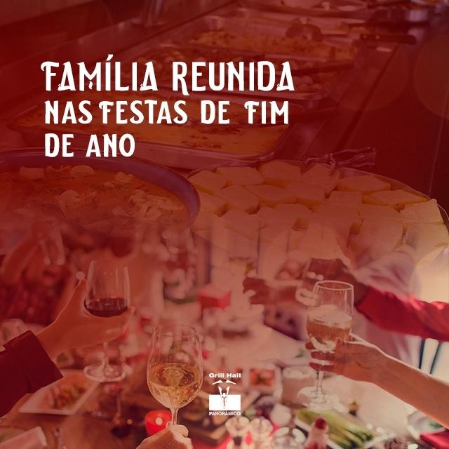 <p>Tempo de reunir a família, comemorar e agradecer mais um ano que se passa. Reencontrar parentes que moram longe, reencontrar até mesmo os mais próximos e para deixar ainda melhor esses reencontros um churrasco de tradição te espera no #GrillHallPanoramico.?<br /> ? (54) 3313-5851?<br /> #EuNoGrillHallPanorâmico #eunogrillhall #ChurrascoTodoDia #churrascaria #churrasco #familiareunida #festasdefimdeano</p>
