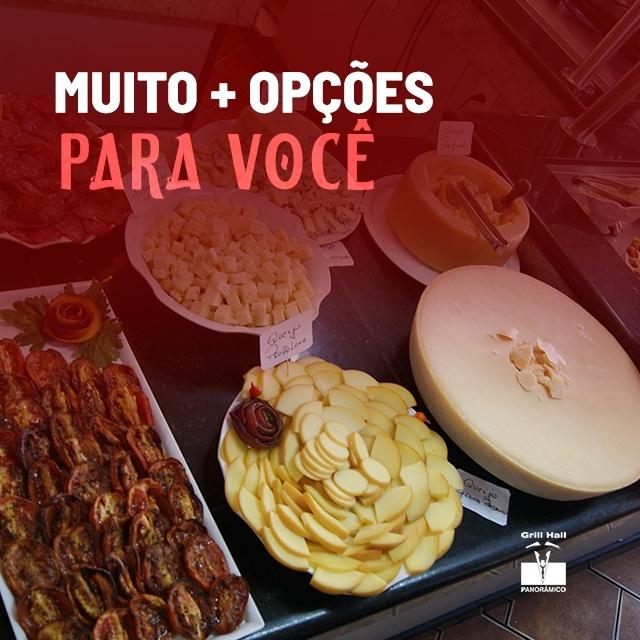 <p>No #GrillHallPanoramico você encontra um variado Buffet de Pratos Quentes, Saladas e Sobremesas, para satisfazer os mais diversos paladares. Quer um almoço/jantar completo e saboroso? Vem pro #GrillHallPanoramico.?<br /> ? (54) 3313-5851?<br /> #EuNoGrillHallPanorâmico #eunogrillhall #ChurrascoTodoDia #churrascaria #churrasco #buffet #pratosquentes #saladas #sobremesas</p>